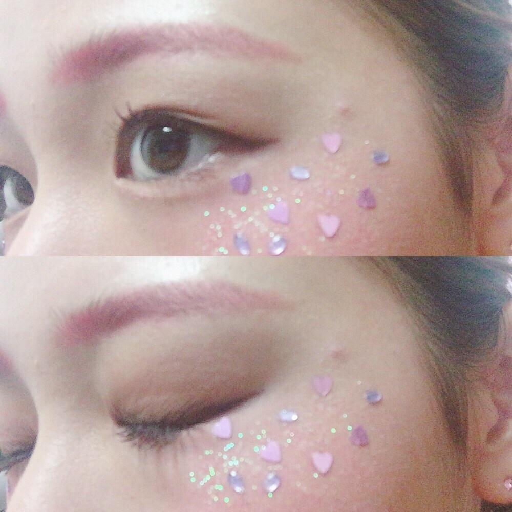 JK必見✨文化祭メイク👀💕🌈カラーデコメイク〜Pink ver〜😎💗