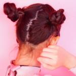 超簡単!!💕お団子ツインのヘアアレンジ方法🍡💜