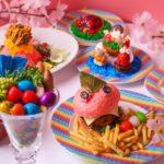 【KAWAII MONSTER CAFE HARAJUKU×ロッテ】のカラフルPOPな『春のランチフェア』🐰🍰🌈