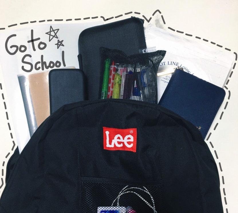 荷物が多い通学も可愛く♡本屋で買える「Lee 」バックパック♥️