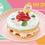 ミントグリーンのクリームにきゅん💚モケスハワイに春限定のパンケーキが登場🧚♂️✨