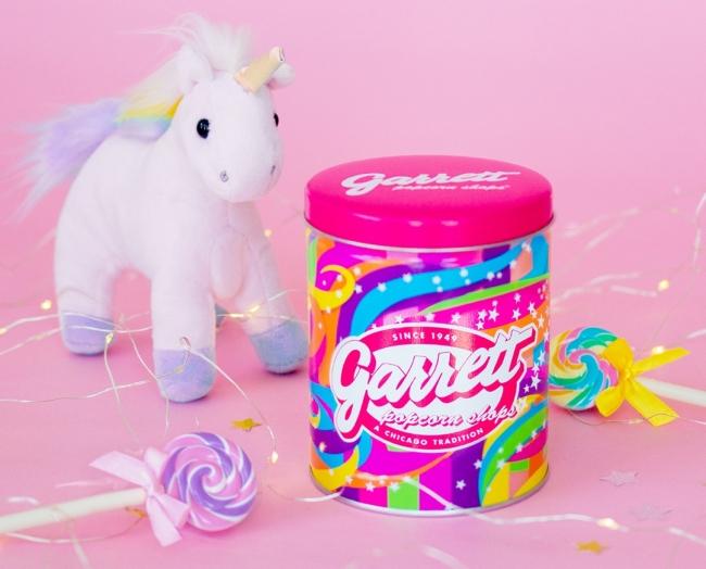 2年振りに復活販売🌟レインボーカラーが可愛い、ギャレットポップコーンの「Unicorn缶」🦄