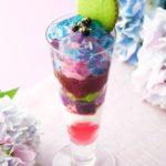 茶寮都路里 大丸東京店限定!梅雨の季節だけの「紫陽花」パフェが登場💎