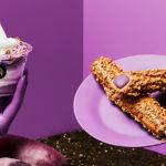 見た目も味も秋気分💜クロッカンシューザクザクの「紫ザク」「紫芋ザクパフェ」🍠