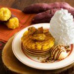 秋の味覚がパンケーキに🥞💕Eggs 'n Things『スイートポテトパンケーキ』🍠