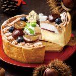 秋の味わいがぎゅーっ😍PABLOの「渋皮マロンとブルーベリーのモンブランチーズタルト」🧀