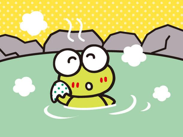 一面けろけろけろっぴ💚極楽湯で「けろけろけろっぴの湯」期間限定開催🛁