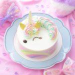 通販限定💕「ゆめかわレインボーユニコーン」ケーキ発売🦄🌈