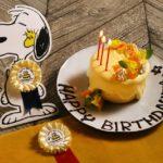 PEANUTS Cafe 中目黒で『ウッドストックのHAPPY BIRTHDAY!!! プラン』スタート🐥🌼💛