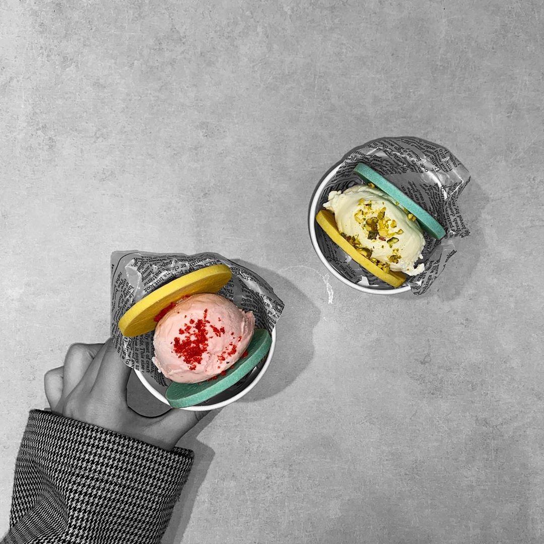 『IMADA KITCHEN』で発売中の韓国フード🌈♡【パステルクッキーサンド】