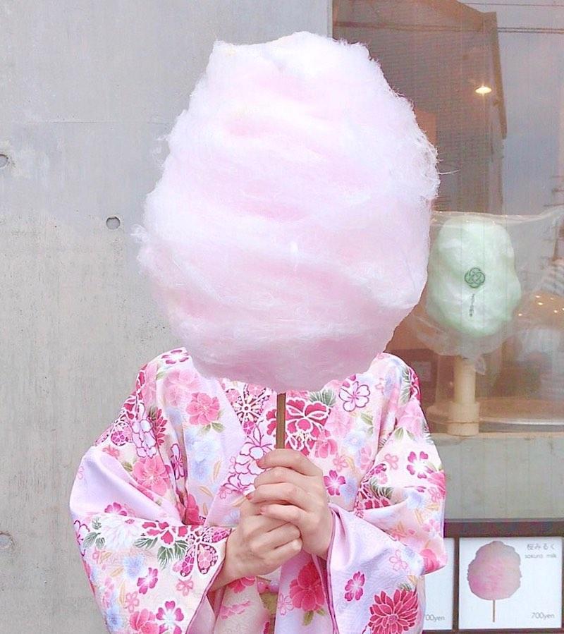 京都らしいフレーバーの大きな綿菓子🌸【zarame】♡
