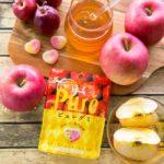 濃厚な味わい♡アーガイル柄のパッケージが可愛い「ピュレグミはちみつりんご」🍎🌟