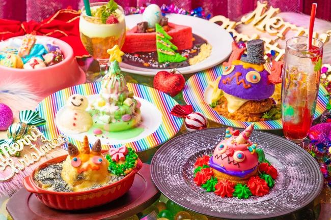 """【KAWAII MONSTER CAFE】「令和初」クリスマスフェア開催!🎅🎄""""萌え色スイーツ""""満載なクリスマスメニューが登場🥺💕"""