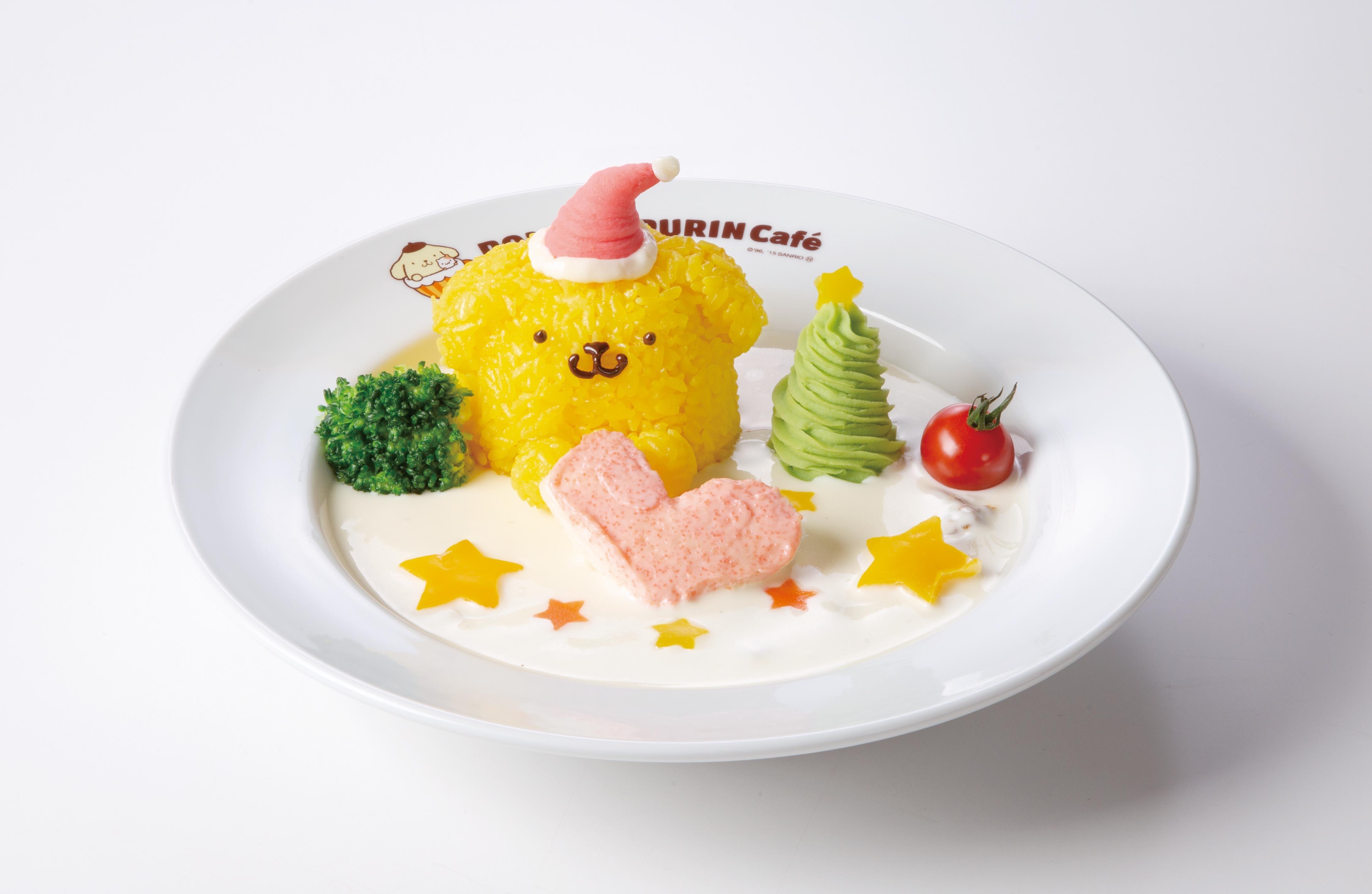 クリスマスシーンをイメージした フード&デザートがお出迎え😻♡「ポムポムプリンカフェ」クリスマスメニューを限定販売🎄💗