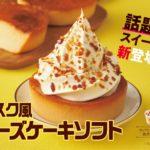 濃厚チーズケーキとソフトクリームが相性抜群😻ミニストップ「バスク風チーズケーキソフト」1月24日(金)発売🧀🧡🌟