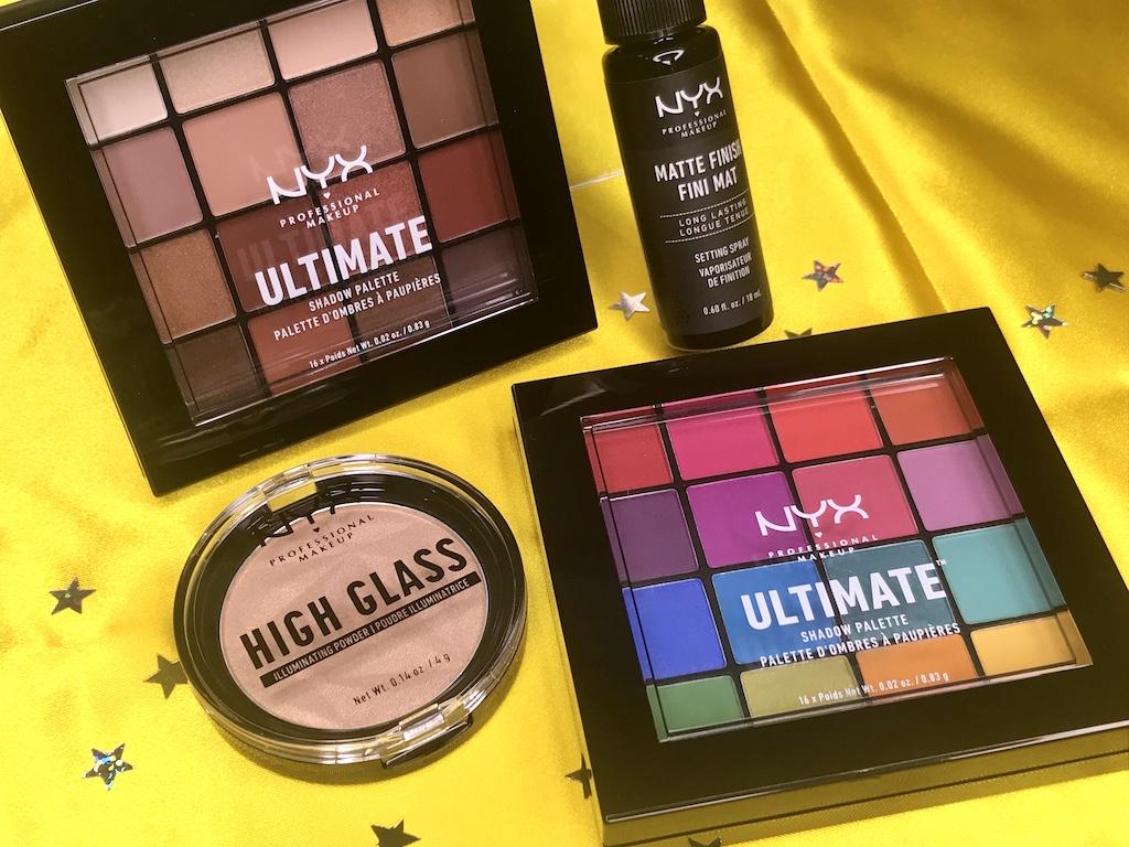【NYX Professional Makeup】大人気アイシャドウパレットや新作のジェルのような質感のハイライターをスウォッチ💙いつものメイクをアップデートしちゃお🌸🦄🧡