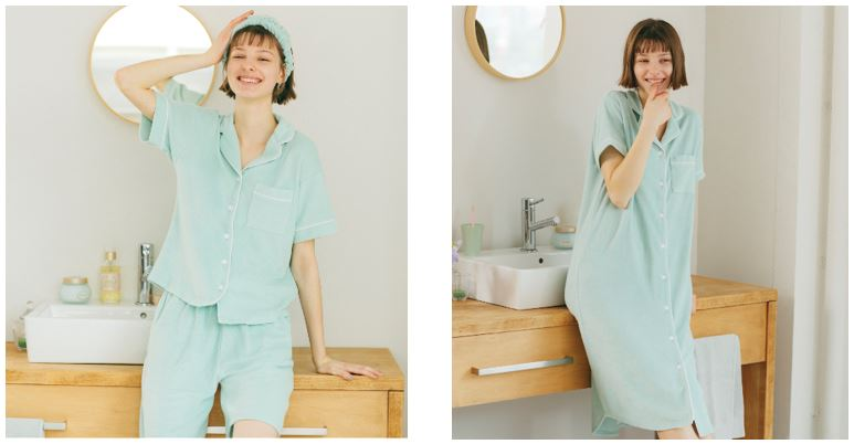 【SABON × GU】接触冷感と保湿加工を施したミント成分入りの「ミントパジャマ」が発売🌱💗〜5月25日(月)から〜