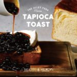\NU茶屋町店オープン企画🎉/「#クロワッサンな食パン」を使った「黒糖タピオカトースト」を限定発売!💗💙