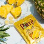本物のゴールデンパインのような果実感🍍🧡「ピュレグミプレミアム 黄金パイン」6月23日(火)全国発売✴️