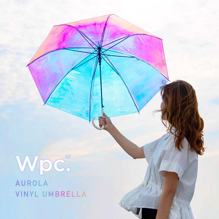 【まるでオーロラ🥺✨】Wpc.™からオーロラの様にキラキラ表情の変わる ビニール傘が登場🌈💙