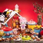 ハローキティのチョコが飾られた「もちもちドーナツパフェ」などキュートなスイーツが勢揃い💖ヒルトン大阪にて「不思議なスイーツの森」が開催🎉🌈🎂