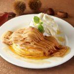 【クア・アイナ】たっぷりマロンクリーム&生クリームが濃厚でクリーミーな味わい🌰🧡「モンブランパンケーキ」9月1日より期間限定発売🌈