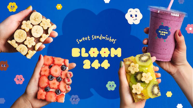 フルーツの花がのったケーキのようなサンドイッチ🌼🍓フルーツオープンサンド専門店『BLOOM244』新大久保駅に2月14日オープン🌈
