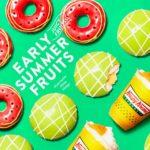"""まるで""""スイカ""""と""""メロン""""な初夏限定ドーナツで、夏を先取りしよう🍉🍈💖"""