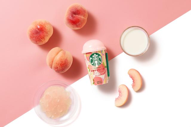 フレッシュな味わいのミルクとピーチジェリーの食感が楽しい🍑💖「スターバックス® もぎゅっとピーチミルク with ピーチジェリー」8月3日発売🤍