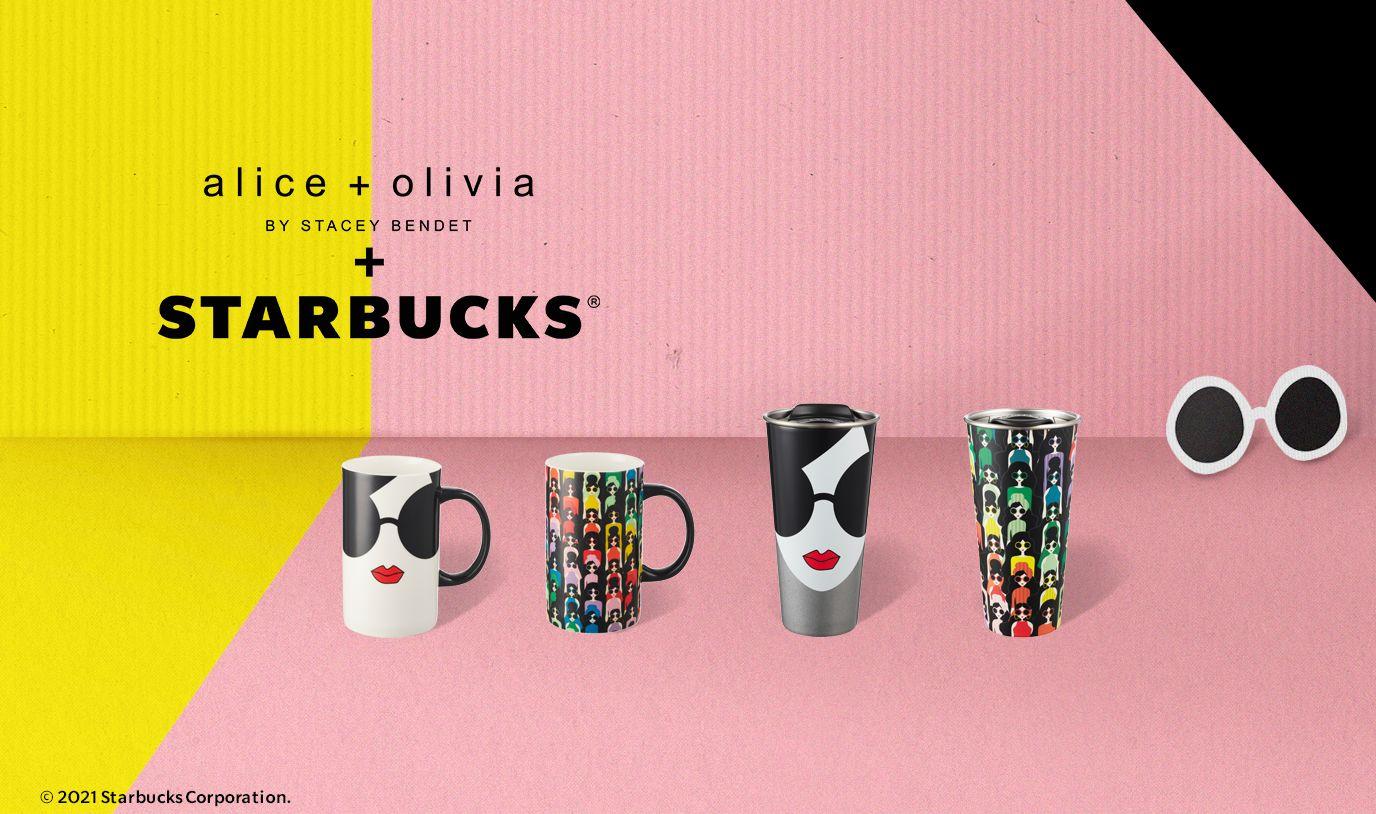 【Starbucks(R) x alice + olivia】スタイリッシュなデザイナーアイテムコレクションをスターバックスオンラインストアにて発売👠🤍