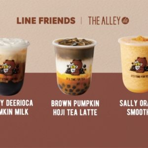 「THE ALLEY」× 「LINE FRIENDS」コラボドリンクが期間限定発売🐻💕