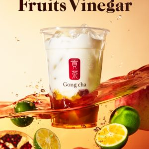 マイルドでフルーティーな味わいの「美酢」を使用した『フルーツビネガー』ドリンクがゴンチャから登場🍍🧡🎉