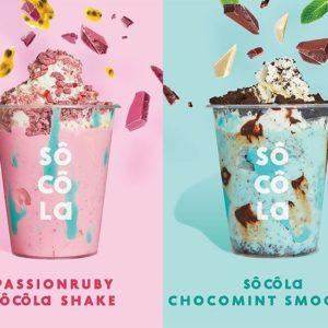 🍫チョコレート好き必見💕8月31日(月)までの期間限定で「濃厚チョコレート専門店 ソコラ」から濃厚シェイク&スムージーとチョコレート100%の贅沢かき氷が登場✴️💙